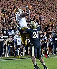 Sept. 14, 2013; DaVaris Daniels catches a touchdown pass against Purdue.<br /> <br /> Photo by Matt Cashore