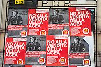 Roma 22 Giugno 2012.Manifestazione  dei sindacati di base contro le politiche economiche e sociali del Governo Monti..Manifesti contro Angela Merkel