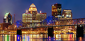 Louisville, skyline at dusk, Kentucky, USA.