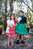 Siobhan Dubois 8 and India Capurro Crowe 9 are pictured at The 2012 Historic Houses Trust of NSW annual Fifties Fair at Rose Seidler House, Sydney. Picture James Horan