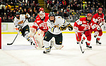 9 January 2011: University of Vermont Catamount forward H.T. Lenz, a Freshman from Vienna, VA, in action against the Boston University Terriers at Gutterson Fieldhouse in Burlington, Vermont. The Catamounts fell to the Terriers 4-2 in Hockey East play. Mandatory Credit: Ed Wolfstein Photo