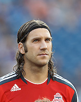 Toronto FC midfielder Torsten Frings (22). In a Major League Soccer (MLS) match, Toronto FC defeated New England Revolution, 1-0, at Gillette Stadium on July 14, 2012.