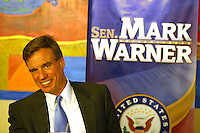 Senator Mark Warner campaigning for senator Creigh Deeds who is running as the democratic nominee for the Virginia Governor in Charlottesville, VA.