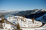 Old Highway 40 winds its way down from Donner Summit to Donner Lake near Soda Springs, Calif., January 6, 2011. California has already received 80% of its normal annual precipitation in the first two months of a rainy season that lasts another four months..CREDIT: Max Whittaker for The Wall Street Journal.CALWATER