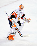 26 October 2009: New York Islanders' goaltender Martin Biron in action during the first period against the Montreal Canadiens at the Bell Centre in Montreal, Quebec, Canada. The Canadiens defeated the Islanders 3-2 in sudden death overtime for their 4th consecutive win. Mandatory Credit: Ed Wolfstein Photo