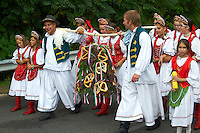 People in traditional Hungarian dress - Annual wine harvest festival ( szuret fesztival ) - Badacsony - Balaton -  Hungary