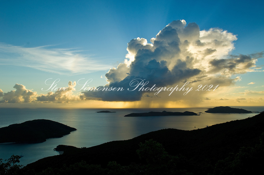 Sunrise over the North Sound.Virgiin Gorda.British Virgin Islands