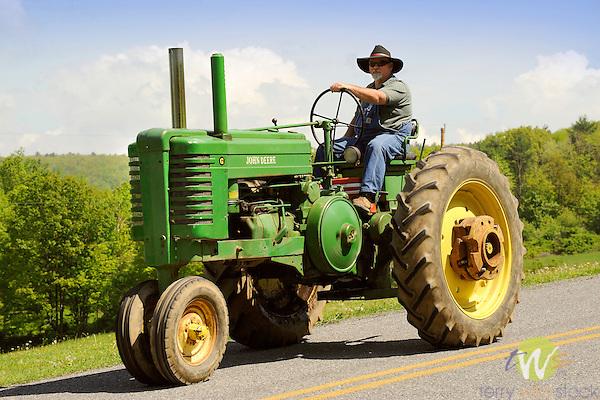 Nippenose Valley. Tractor parade. Lorson Road, PA.