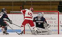 Boston, Massachusetts - December 3, 2016: NCAA Division I women's hockey. University of Connecticut (blue) defeated Boston University (white), 2-1, at Walter Brown Arena.