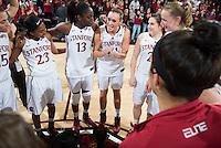STANFORD, CA -- Stanford Women's Basketball vs. Oregon at Maples Pavilion.