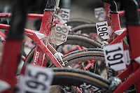 muddy post-race race numbers<br /> <br /> 11th Strade Bianche 2017