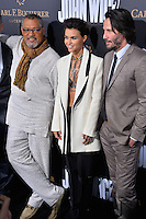 Keanu Reeves &amp; Ruby Rose &amp; Laurence Fishburne at the premiere of &quot;John Wick Chapter Two&quot; at the Arclight Theatre, Hollywood. <br /> Los Angeles, USA 30th January  2017<br /> Picture: Paul Smith/Featureflash/SilverHub 0208 004 5359 sales@silverhubmedia.com