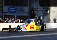 Jun 3, 2016; Epping , NH, USA; NHRA top fuel driver Shawn Langdon during qualifying for the New England Nationals at New England Dragway. Mandatory Credit: Mark J. Rebilas-USA TODAY Sports