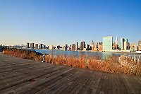 Gantry Plaza State Park, Long Island City, Queens, NYC, NY, Boardwalk
