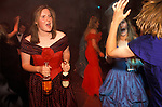 Cirencester Royal Agricultural College annual end of year dance Gloucestershire England. Circa 1985. &quot;Girls in red and blue,pink Champagne.&quot;