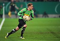 FUSSBALL   DFB POKAL   SAISON 2011/2012   HALBFINALE   21.03.2012 Borussia Moenchengladbach - FC Bayern Muenchen  Torwart Marc Andre ter Stegen (Borussia Moenchengladbach) mit Ball