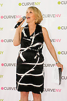 Carole Hochman speaks to audience at the CURVE and CFDA Party For A Cause event during the CURVENY Lingerie & Swim show, at the Jacob Javits Convention Center, August 2, 2010.