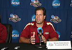 08 December 2007: Head coach Mark Krikorian. The Florida State University Seminoles held a press conference at the Aggie Soccer Stadium in College Station, Texas one day before playing in the NCAA Division I Womens College Cup championship game.