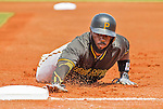 22 March 2015: Pittsburgh Pirates infielder Josh Harrison dives safely back to first during a Spring Training game against the Houston Astros at Osceola County Stadium in Kissimmee, Florida. The Astros defeated the Pirates 14-2 in Grapefruit League play. Mandatory Credit: Ed Wolfstein Photo *** RAW (NEF) Image File Available ***
