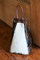 A further example of a doorstop by Matt and Jax Fothergill, this time made of cured cow-hide