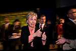 2008 Democratic Presidential Candidate Hillary Clinton at a campaign event discussing energy and the environment with Bob Vila, Peterborough, NH, 11/7/07.