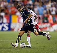 Niko Kranjcar, Macoumba Kandji. Tottenham defeated the New York Red Bulls, 2-1.