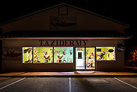 We captured this image of this haunting errie taxidermy shop in Llano one night with all the eyes staring back at you.  We turned around and had to go back and take the picture.  Llano is part of the Texas Hill country and hunting and fishing is a way of life here.  The city caters to hunter every fall during deer season so it what you expect in rural parts of Texas.