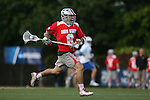 09 May 2015: Ohio State's Reegan Comeault (CAN). The Duke University Blue Devils hosted the Ohio State University Buckeyes at Koskinen Stadium in Durham, North Carolina in a 2015 NCAA Division I Men's Lacrosse Tournament First Round match. Ohio State won the game 16-11.