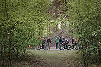 Peter Sagan (SVK/Bora-Hansgrohe) & co cruising through the woods around the 'Silverlake' in Mol at the Tom Boonen farewell race/criterium 'Tom Says Thanks!' in Mol/Belgium