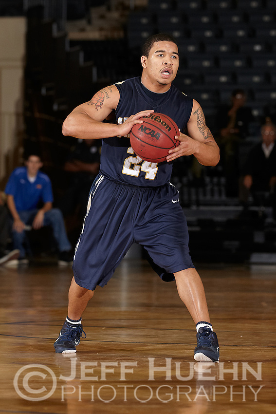 SAN ANTONIO, TX - JANUARY 6, 2011: The St. Edward's University Hilltoppers vs. the St. Mary's University Rattlers Men's Basketball at the Bill Greehey Arena. (Photo by Jeff Huehn)