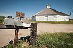 Hayashi  family octagon Barn built c. 1900 as a dairy barn and restored at the end of the 20th Century, San Luis Obispo, Calif...The barn is 77 feet wide, about 40 feet tall