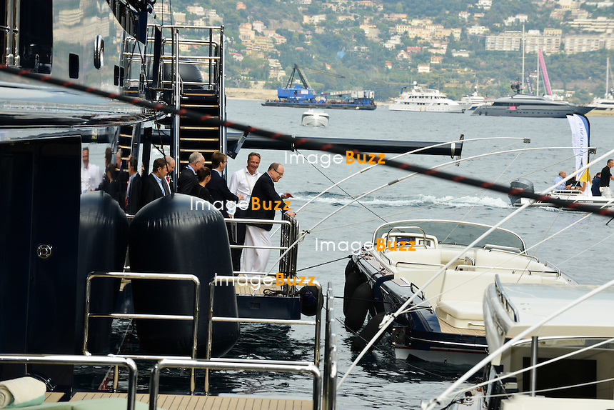 Prince Albert II of Monaco attends the opening of the 24th Edition of the International Monaco Yacht Show.<br /> Monaco, 24 September 2014.