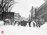 West Main Street after the February 19th and 20th 1934 blizzard.