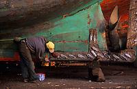 Afrique/Maghreb/Maroc/Essaouira : Chantier naval sur le port de pêche