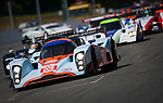 The Lola Aston Martin #009 LMP1, Harold Primat-Miguel Ramos-Darren Turner, Team Aston Martin Racing, here just after the end of the intervention of the Safety Car, in the beginning of the race, Sunday, May 10, 2009, in Spa-Francorchamps, Belgium. (Valentin Bianchi/pressphotointl.com)
