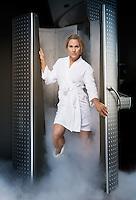 Fitness legend Monica Brant, photographed Sunday, Sept. 22, 2013, in San Antonio Texas. (Darren Abate/DA Media) CONTACT PHOTOGRAPHER TO LICENSE THIS IMAGE.