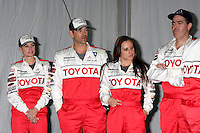 LOS ANGELES - APR 3:  Eileen Davidson, Eddie Cibrian, Kate del Castillo, Adam Carolla at the 2012 Toyota Pro/Celeb Race Press Day at Toyota Long Beach Grand Prix Track on April 3, 2012 in Long Beach, CA