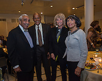NEW YORK, NY - APRIL 3: Harry Belafonte, Charles B. Rangel, Pamela Belafonte, Alma Rangel pictured as David N. Dinkins, 106th Mayor of the City of New York, receives the Dr. Phyllis Harrison-Ross Public Service Award for a lifetime of public service at the New York Society of Ethical Culture in New York City on April 3, 2014. Credit: Margot Jordan/MediaPunch