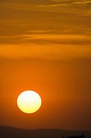 Sunrise over Queen Elizabeth National Park, Uganda, East Africa