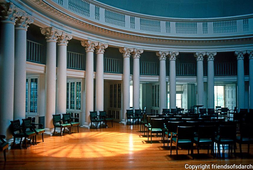 Thomas Jefferson: The Rotunda, University of Virginia, Interior. (A restoration of Jefferson's original scheme after period of Stanford White's alteration.)  Photo '85.