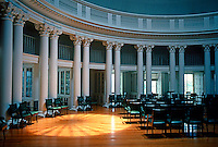 Thomas Jefferson: The Rotunda, University of Virginia, Interior. (A restoration of Jefferson's original scheme after period of Stanford White's alteration.)  Photo '85.