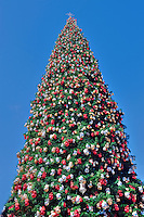 Tall 90 foot, Christmas Tree, Xmas, Holiday, Decorations, Tree Decorated, Balls, Lights