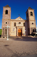 The Catedral de Nuestra Senora de la Paz on the Plaza Constitucion or Jardin Velazco in the city of La Paz, Baja California Sur, Mexico