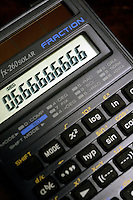 CALCULATOR DISPLAY OF SIGNIFICANT NUMBERS<br /> (Variations Available)<br /> Display Reading 0.666666666<br /> Liquid Crystal Display (LCD)
