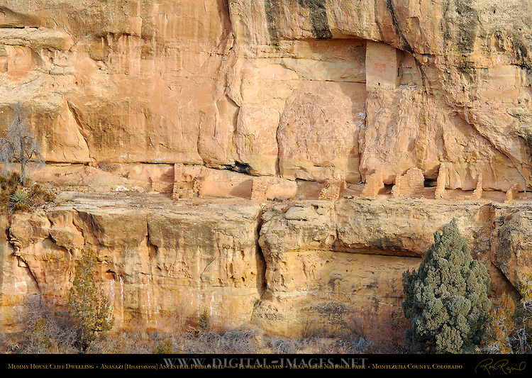 Mummy House Cliff Dwelling, Anasazi Hisatsinom Ancestral Pueblo Site, Fewkes Canyon, Mesa Verde National Park, Colorado
