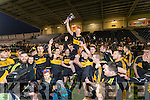 Dr Crokes captain Johnny Buckley lifts the cup after defeating The Nire at Mallow on Sunday