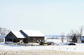 Barnyard on a bright winter day