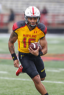College Park, MD - April 22, 2017: Maryland Terrapins quarterback Ryan Brand (16) runs the ball during game the Maryland Spring Game at  Capital One Field at Maryland Stadium in College Park, MD.  (Photo by Elliott Brown/Media Images International)