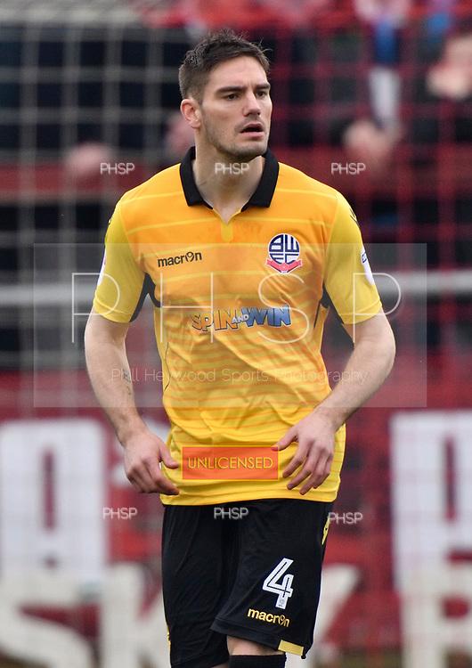 11/03/2017 Sky Bet League 1 Fleetwood Town v Bolton Wanderers<br /> <br /> Dorian Dervite, Bolton Wanderers FC