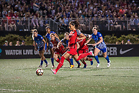 Boston, MA - Friday May 19, 2017: Nadia Nadim during a regular season National Women's Soccer League (NWSL) match between the Boston Breakers and the Portland Thorns FC at Jordan Field.